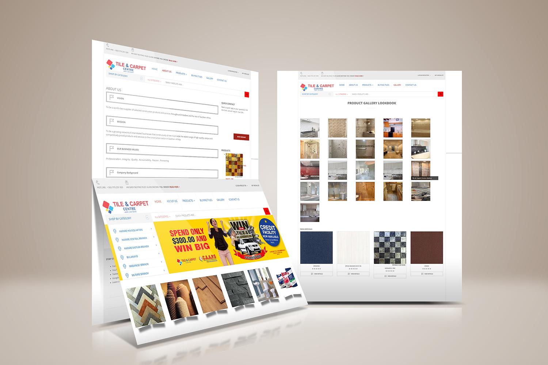 Website Development Tile & Carpet Centre showcase